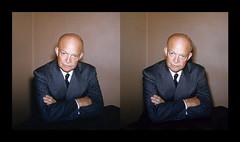 President Dwight Eisenhower - 1953 (ah_pook) Tags: stereorealist 3d parallel dwighteisenhower president eisenhower 1953