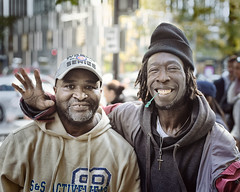 Leon and Willie (mckenziemedia) Tags: homeless homelessness streetphotography street chicago urban city portrait friends guys men love family unity
