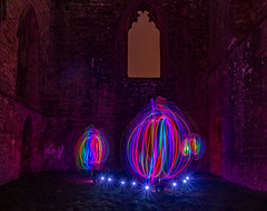 First attempt lightpainting Egglestone Abbey (jimwood777) Tags: first attempt lightpainting egglestone abbey