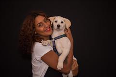 Friends (Rushay) Tags: african background beautiful cute cuteness dog labrador pet portelizabeth portrait puppy southafrica watching woman