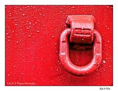 Red & Wet (Michael J. Woerner) Tags: mountring truck crane truckcrane rainy wet raindrops dripoff red ring firmly attached strong power breakpoint drip montierungsring lkw kran lkwkran regnerisch nass regentropfen tropfen rot fest befestigt stark kraft haltepunkt