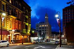 20181107-06-T&G building (Roger T Wong) Tags: 2018 australia carlzeiss35mmf28 hobart rogertwong sel35f28z sonya7iii sonyalpha7iii sonyfe35mmf28zacarlzeisssonnart sonyilce7m3 tgbuilding tasmania bluehour evening hotel lights street