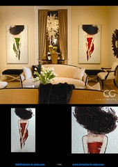 46-0493 La dame au chapeau roomshot cgfb 1 (claus.baermeier) Tags: luxury furnishing christopher guy interiorsinstyle living dining bedroom lobby office hospitality art deco picture mosaic