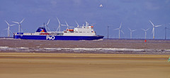 P&O 'MS Norbay' and Windpower. (Gerry Hat Trick (was Wontolla1)) Tags: wednesdaywalk ferry roro passenger liverpool dublin wednesday walk walking hiking hike coast formby crosby boat ship msnorbay po