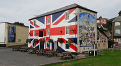 The only official Union Inn - Saltash (fatboyke (Luc)) Tags: isambard kingdom brunel riverside is striking mural wall unionflag blues rock jazz country quality live music ales beers strikingly painted union flag tamarbridges local characters cider unioninn tamarstreet saltash pl124el wallpaintings outside cornwall unusually historical