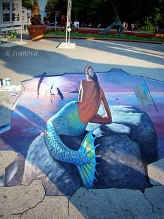 Street Art - Mermaid