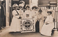 Ladies collecting for the United Charities Fund in Sydney, N.S.W. -  1908 (Aussie~mobs) Tags: 1908 sydney australia newsouthwales women collecting money donation fundraising charity unitedcharitiesfund railwaystation aussiemobs
