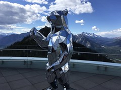 Sulphur Mountain (Clarissa Peterson) Tags: banffgondola sulphurmountain bear sculpture mountains banff
