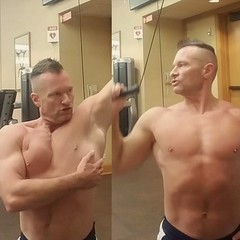 feel those lats work (ddman_70) Tags: shirtless pecs abs muscle gym workout latpulldowns