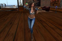 Dance 003 (Jessica Jane 2017) Tags: second life sl virtual model dancing woman women girl girls tight jeans hat