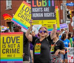 Rights Pride - Ottawa Pride 2018 (Dan Dewan) Tags: 2018 canonef70200mmf14lisusm portrait bankstreet street people person lady ottawapride pride ottawa sunday summer woman august ontario canada glasses dandewan crowd canon