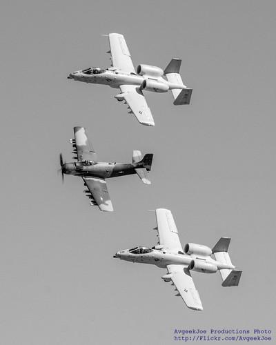 A-10 Heritage Team Bracketing HFM A-1 in B&W