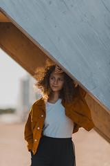 16.09.2018 — Amelia (Polly Bird Balitro) Tags: autumn colour orange sunlight girl curlyhair portrait ginger helsinki finland vuosaari nikonaf135mmf2dc nikondf pollybalitro diary blog