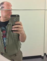 Day 2433: Day 243: In the mirror (knoopie) Tags: 2018 august iphone picturemail mirror ballardunderground