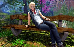 waiting for you (Joshua 2.0) Tags: secondlife sl solo selfie twink gay blonde forest