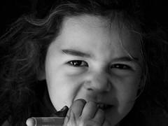 Agathe, ma petite fille chérie (antoine.bultel) Tags: noirblanc nb portrait enfants children olympus gx9 panasonic lumix