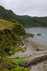Lagao do Fogo (Viv Lynch) Tags: portugal travel azores azoresislands europe açores nature hiking fogo lagoa lake mountain mountains foggy lagoadofogo trail saomiguel forest trees