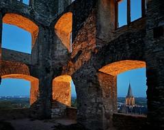 ....Ruine Landskrone, Oppenheim (CP Käser) Tags: ruine burg castle landskrone oppenheim rhein b9 rheinhessen rheinlandpfalz germany rhine deutschland abend nacht farben colours