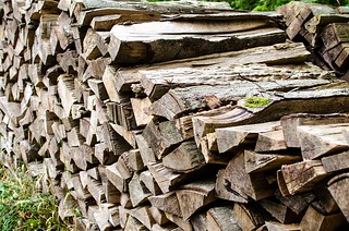 Woodpile at the Lichtensteincastle