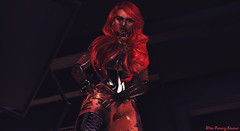 ιи тнє иιgнт (ƒαηαяяу ℓєѕαηαя) Tags: pussy gloves boots corse red long hair glasses nails white tattoo shiny latex black night dark light shadow secondlife sl miss mistress rubber