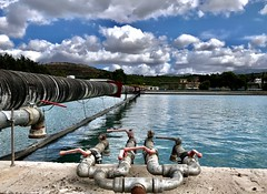 The purest water for People. (AchillWandering) Tags: water supply watersupply refinery eydap attica greece athens taps tubes sky humanrights people pure purest watertreatment waterrefining waterplant watertreatmentplant ciel vowel