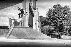 JTH TailDrop (Nathan Gentry) Tags: skateboarding skateboard skate skating skater taildrop powerollie ollie bank mlk colors color shadows contrast deep saturation clarity thrasher pro trick stunts stunt blackandwhite bw blackwhite pittsburgh pennsylvania pa 412 nikond7000