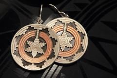 Navajo Wedding Basket Earrings (j.towbin ©) Tags: allrightsreserved© macro macromondays earrings jewelry nativeamerican weddingbasketdesign texture perfectmatch two rhbegay navajo heardmuseum craft art nativeamericanart img3135 ef100mmf28lisusmmacro