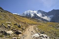 "Endless Path (""S.L"") Tags: nikon nature landsacep wide horizont path hill mountainside highmountains alps blue sky yellow artistic imaginative creative trail"