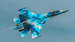 Su-27UB1M (kamil_olszowy) Tags: su27ub1m flanker fighter trainer piksel camuflage ukraine air force 831s tactical aviation brigade radom airshow epra бригада тактичної авіації військовоповітряні сили україни ввс украинй сухой sukhoi 71 су27уб1м