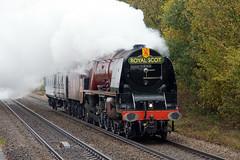 6233 - Duchess of Sutherland (Signal Box - Railway photography) Tags: outdoor railway railroad ukrailway steam locomotive engine train whitchurch hampshire station lms coronationclass princess 6233 duchessofsutherland steamtrain stanier