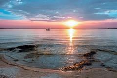 Ionian sea sunset (gialluka) Tags: sunsetnatureskysalentoapuliapugliacolourstramonti seascape sunsetcolors portocesareo belvedere