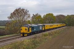 37025 Mill Lane (Yardbrush) Tags: 025 37025 254 37354 invernesstmd 1q68 derbyrtc worksop milllane kirkbyinashfield poleplprdieselsrpstesttest train autumn