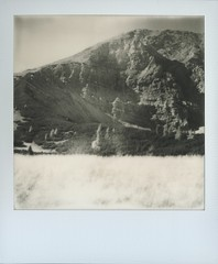 # (alex//b) Tags: 2018 polaroidoriginals polaroidsx70 analog instand film vintage austria kalkalpen berge mountains hochland highlands alpen alpinemountains nationalpark rotewand wiese meadow gras mountainside berghang schwarzweis blackwhite landscape landschaft roidweek