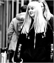 Pinkie (1980blue Street) Tags: cardiff southwales wales glamorgan city citycentre town mono monochrome blacknwhite blackandwhite candid street people person autumn cool woman man women female male guy bloke girl