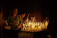 no it's not your Birthday !!!! (claudia 222) Tags: candles candid girl church zeiss 50mm