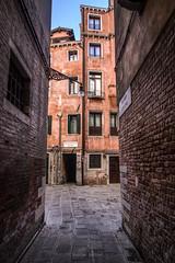 venezian street (ForgottenMelodies) Tags: europe italia italy venezia venise boat canal city cityscape dawn house k3 mood pentax seawater sky sun sunlight