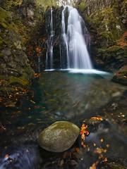 Autumn waterfall II (donlope1) Tags: nature light waterfall autumn fall longexposure forest mountain wildlife pyrenees france