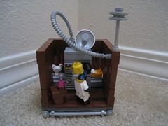 Transmogrifier (jgiese626) Tags: lego moc vignette lab laboratory machine contraption invention experiment crazy mad scientist tesla coil radar tube pipe bottle potion beaker flask halloween