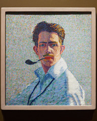 Self-Portrait (Raymond Johnson, 1917) (Whidbey LVR) Tags: lyle rains lylerains olympus em5ii new mexico newmexico albuquerque museum art painting