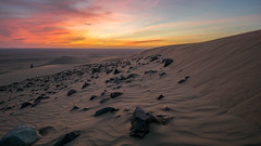 Khulais (Aditya Prabaswara) Tags: desert sunset red sun sand clouds sky trail rocks stones landscape saudi beautiful