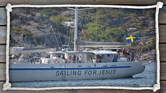 Boats (4). Visit my album Boats. (andantheandanthe) Tags: sweden sverige marstrand sailing sail sea water sky blue jesus religious