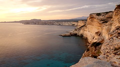 Low sun over chalk cliffs (Bonifacio, Corsica) (HervelineG) Tags: bonifacio sunset coucherdesoleil corse corsica mertyrrhénienne falaise craie cliff chalk rx100 tyrrheniansea