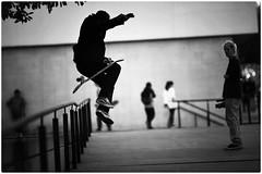 Sk8 (gro57074@bigpond.net.au) Tags: cbd youth outdoors museumofcontemporaryart mca sydney mono monotone monochrome blackwhite bw jump skateboarding street f14 105mmf14 artseries sigma d850 nikon