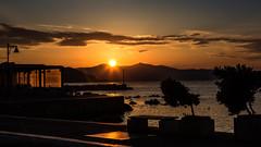 5416  Autumn Sunsets (foxxyg2) Tags: sun sunset aegean sky clouds water port gold golden glow reflections light chora nazos cyclades greece greekislands islandlife islandhopping niksoftware dxo define2