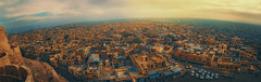 The golden city .. (tchakladerphotography) Tags: panorama city travel colors heritage sandstone light india
