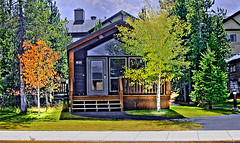 Transitions-m (Guyser1) Tags: hdr vacationrental motel westyellowstone fall canonpowershots95 pointandshoot dwelling cabin