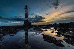 Beachy Head Lighthouse Sunset - Sussex (E_W_Photo) Tags: beachyhead lighthouse beach sunset reflection lowtide sussex uk canon 80d sigma 1020mm leefilters