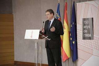 El president de la Generalitat, Ximo Puig, asiste al 150 aniversario del Instituto Valenciano de Investigaciones Agrarias (IVIA). (16/10/2018)