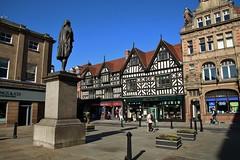 The Square Shrewsbury (Eddie Crutchley) Tags: europe england shropshire shrewsbury outdoor streetview halftimberedhouse historicbuilding sunlight simplysuperb blueskies