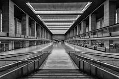 Main Hall (Leipzig_trifft_Wien) Tags: berlin deutschland de blackandwhite black white indoor wideangle wide terminal architecture building city urban